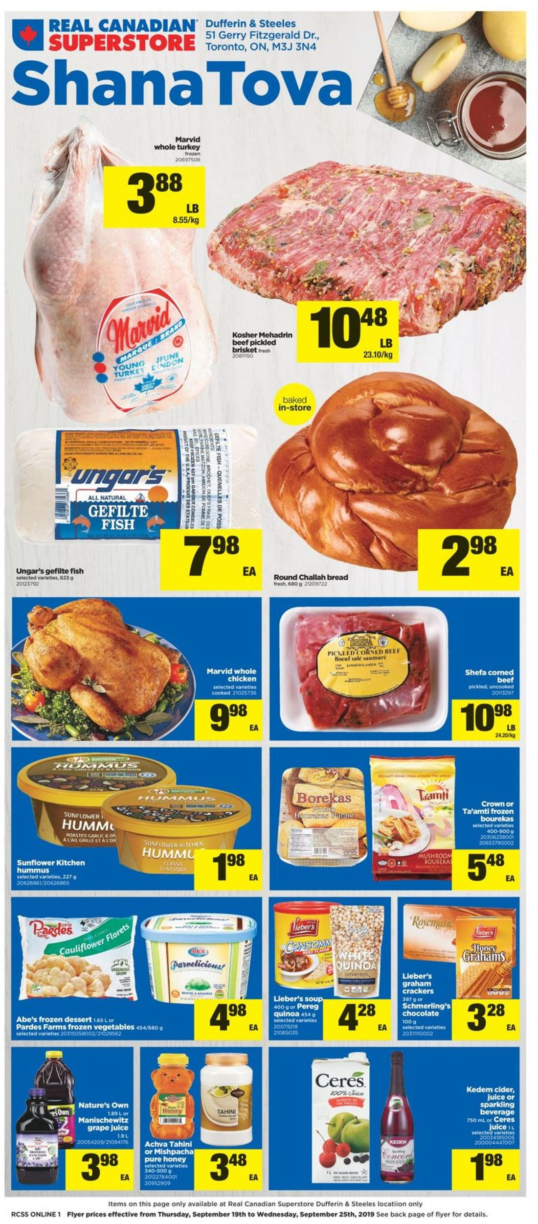 Real Canadian Superstore Flyer - 09/19-09/25/2019