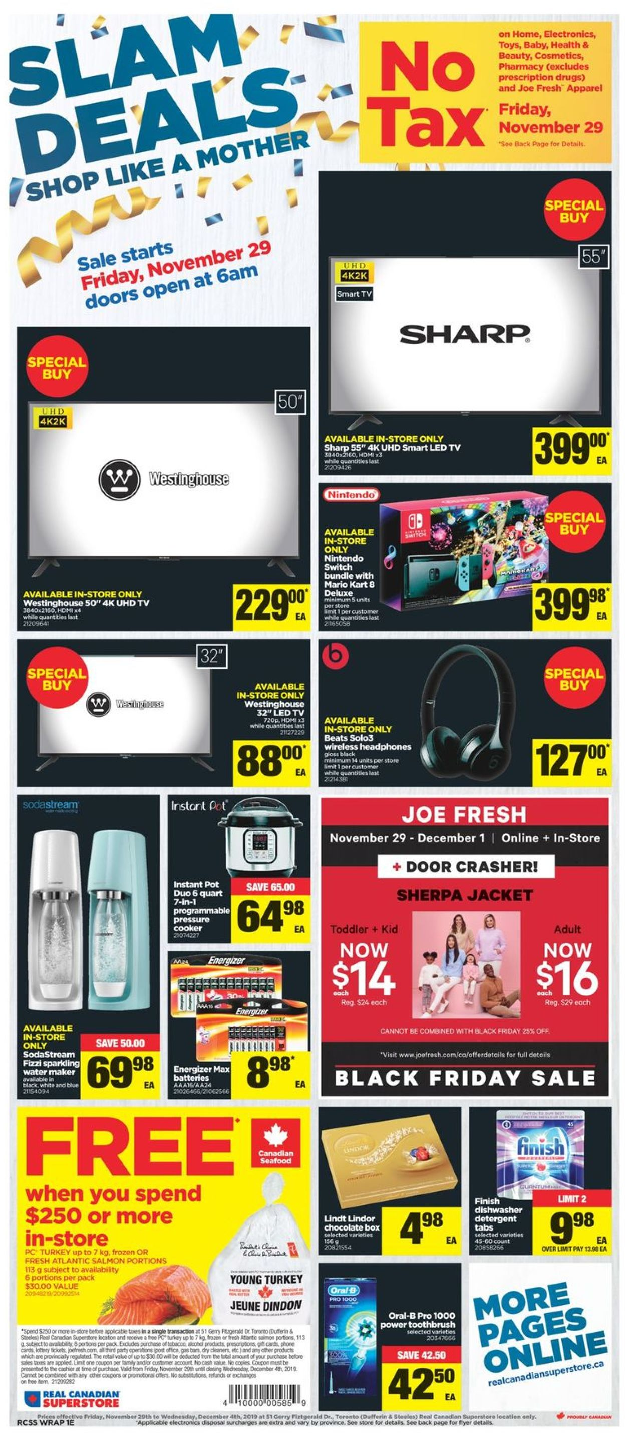 Real Canadian Superstore BLACK FRIDAY 2019 SALE