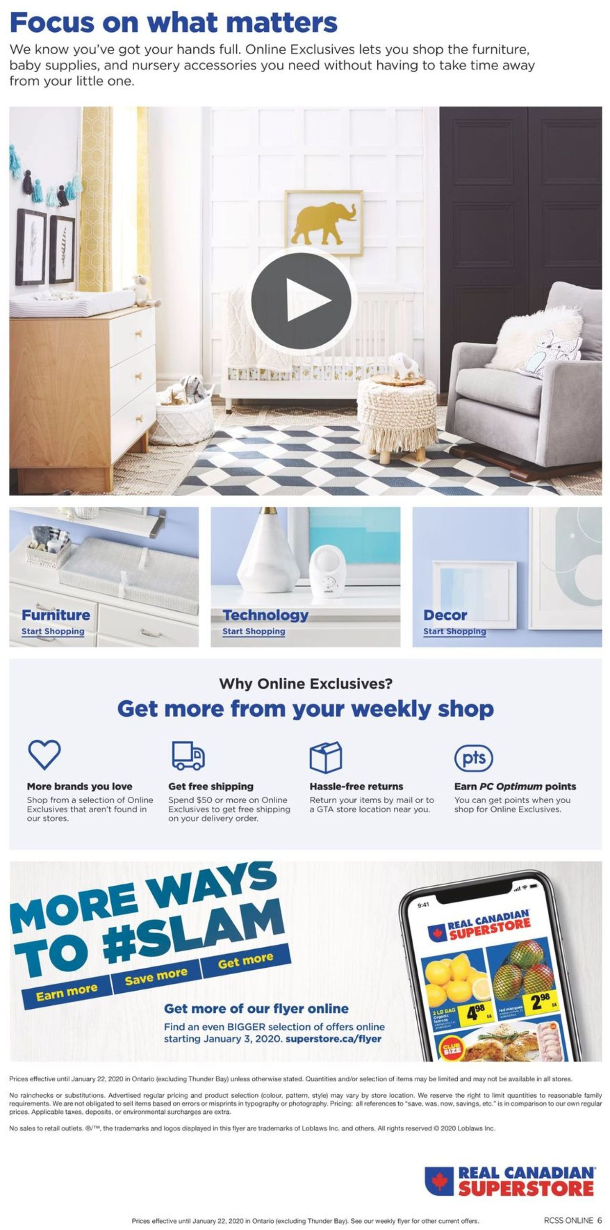 Real Canadian Superstore Flyer - 01/09-01/22/2020 (Page 6)
