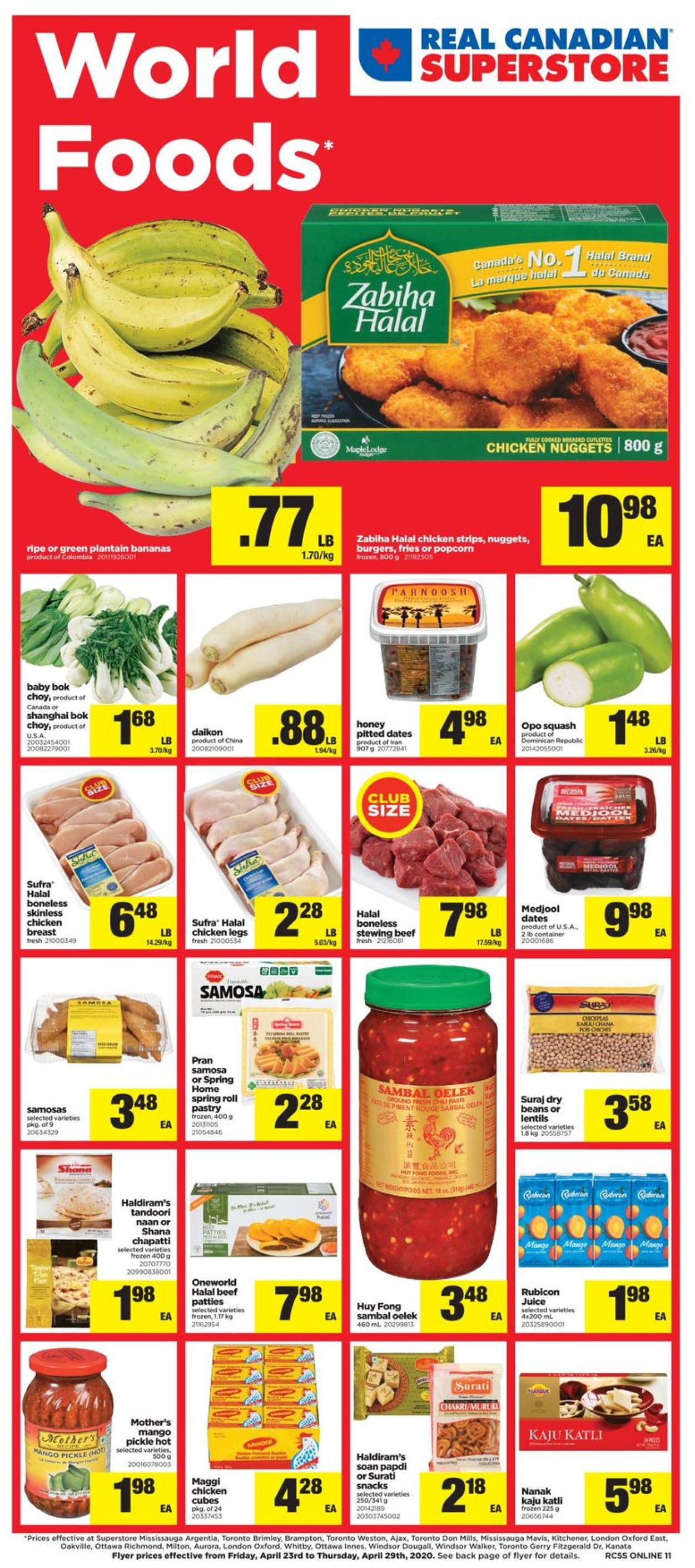 Real Canadian Superstore Flyer - 04/23-04/29/2020