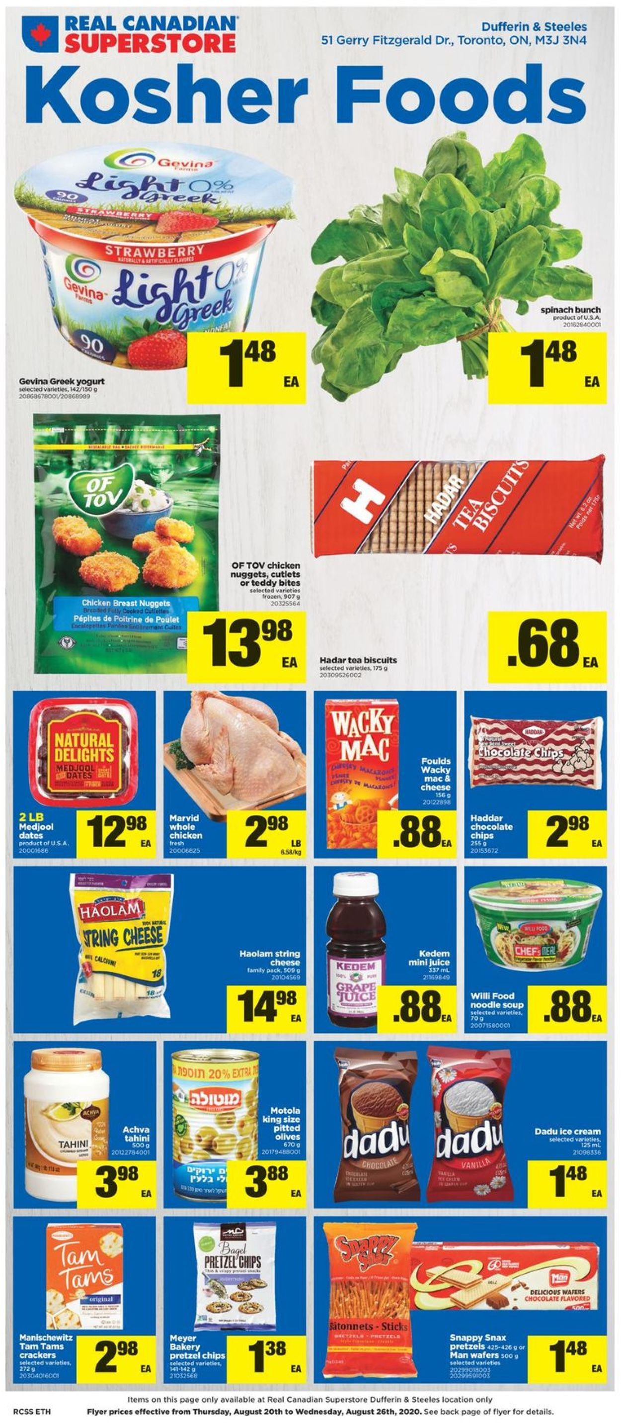 Real Canadian Superstore Flyer - 08/20-08/26/2020
