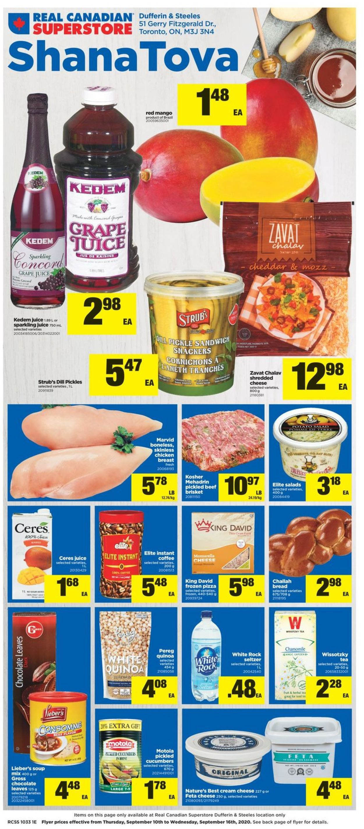 Real Canadian Superstore Flyer - 09/10-09/16/2020