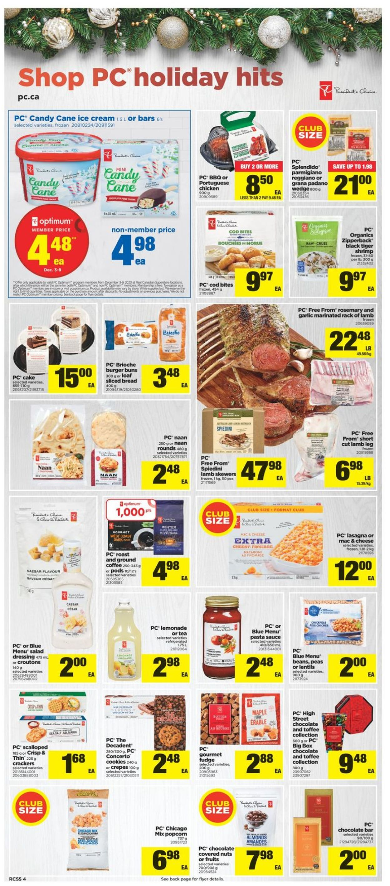 Real Canadian Superstore - Holiday 2020 Flyer - 12/03-12/09/2020 (Page 4)