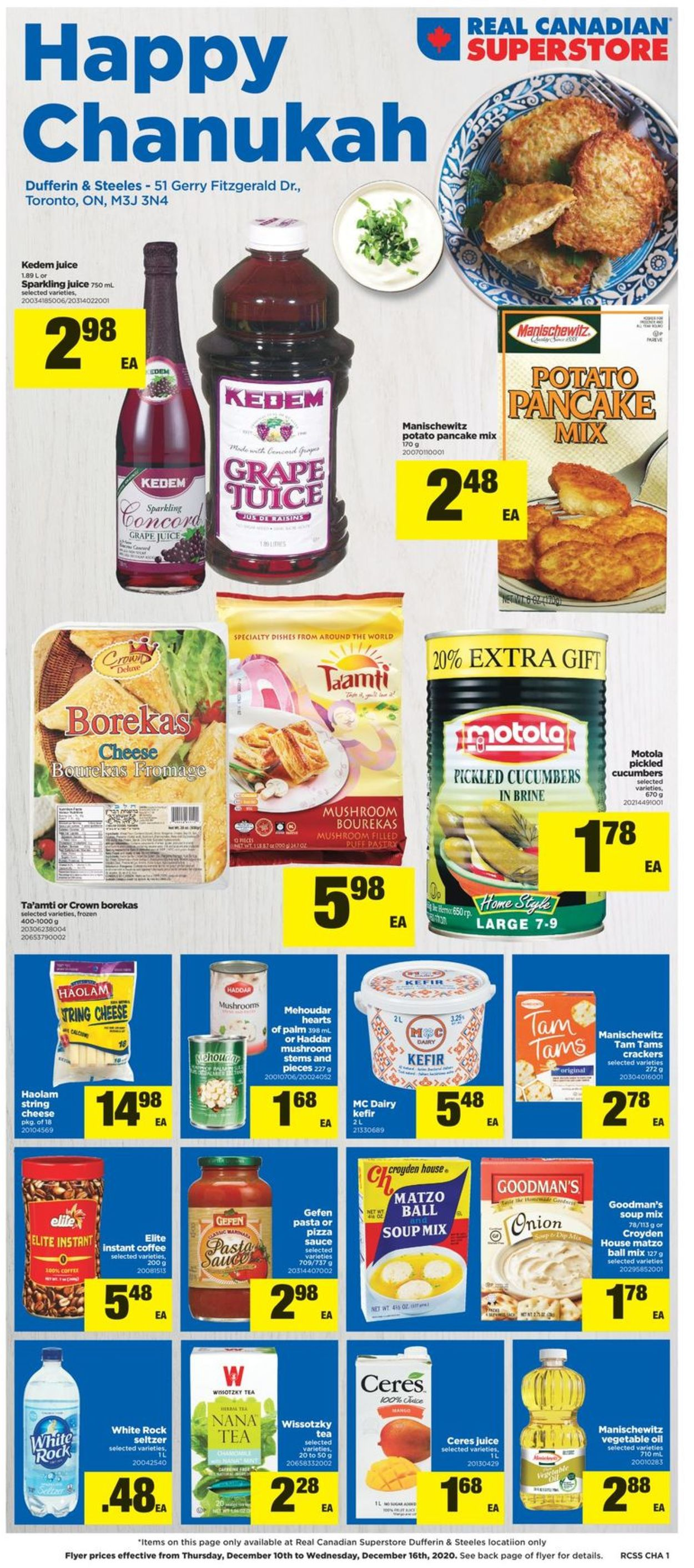 Real Canadian Superstore - Chanukah 2020 Flyer - 12/10-12/16/2020
