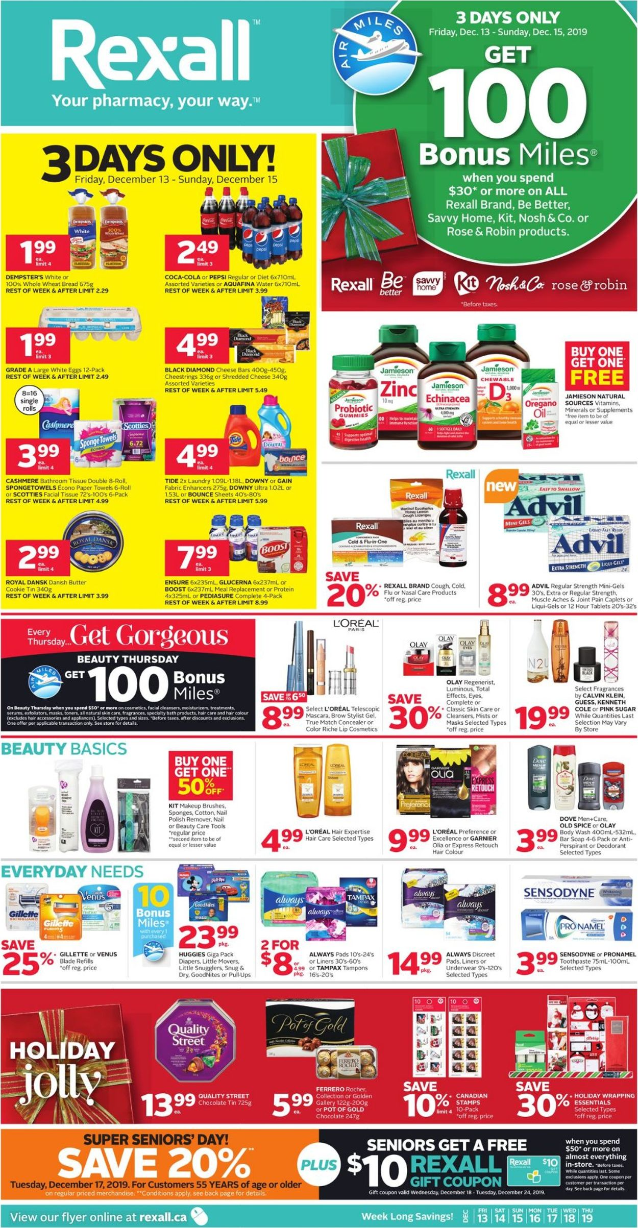 Rexall - HOLIDAY Flyer 2019 Flyer - 12/13-12/19/2019