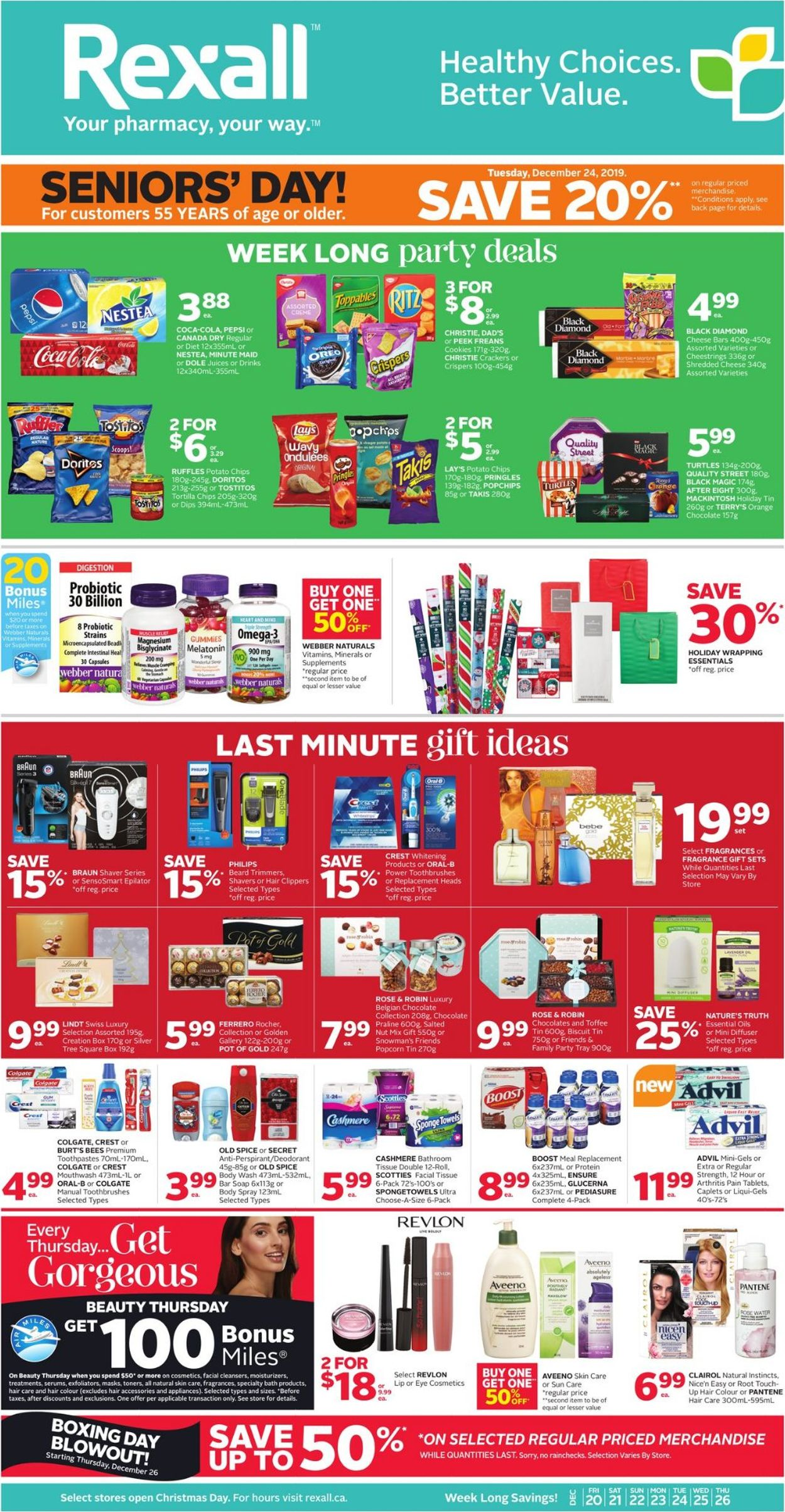 Rexall - HOLIDAY Flyer 2019 Flyer - 12/20-12/26/2019