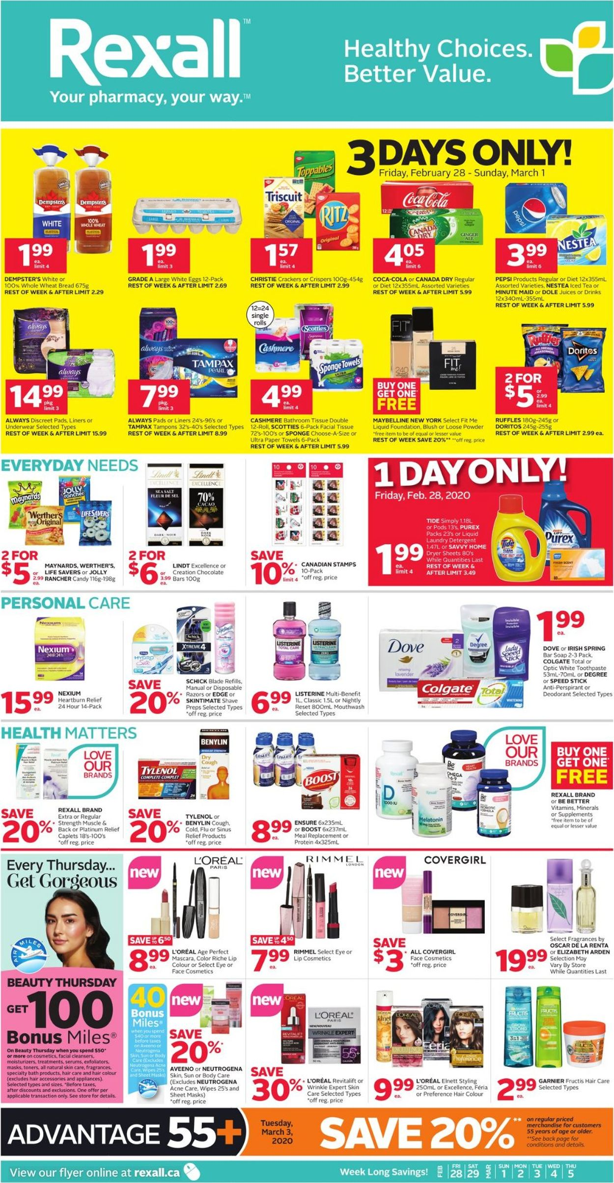 Rexall Flyer - 02/28-03/05/2020