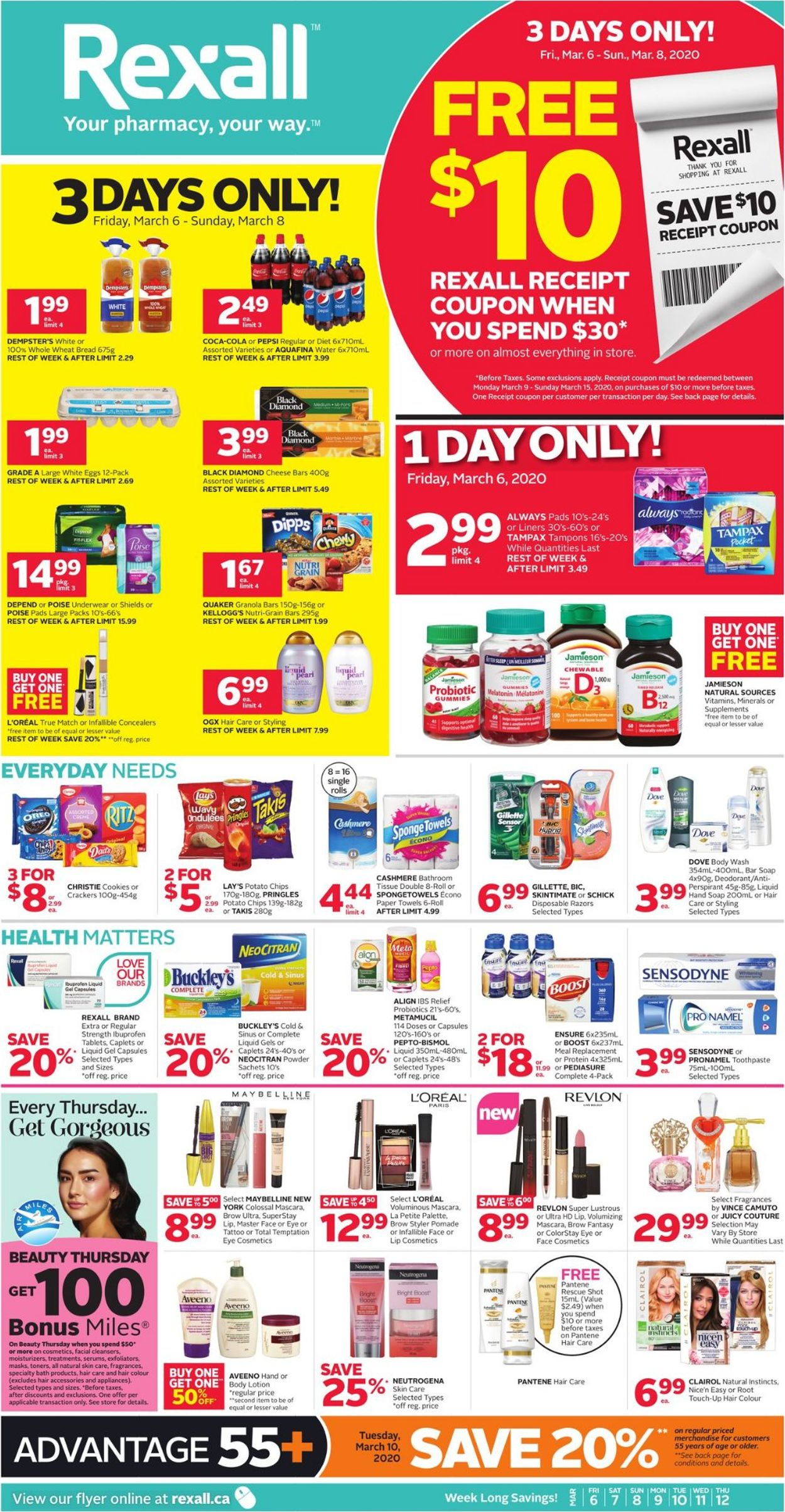 Rexall Flyer - 03/06-03/12/2020