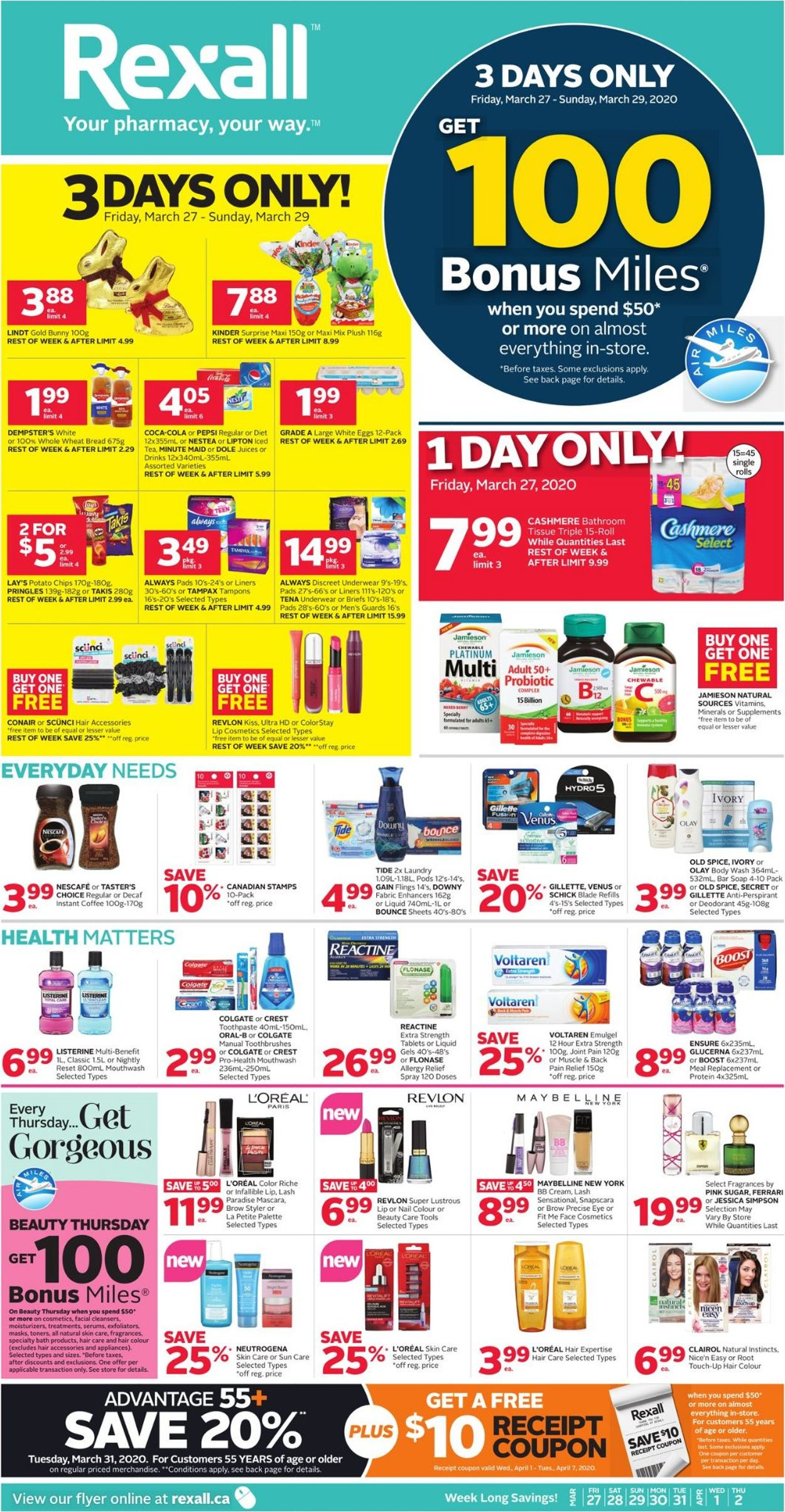 Rexall Flyer - 03/27-04/02/2020