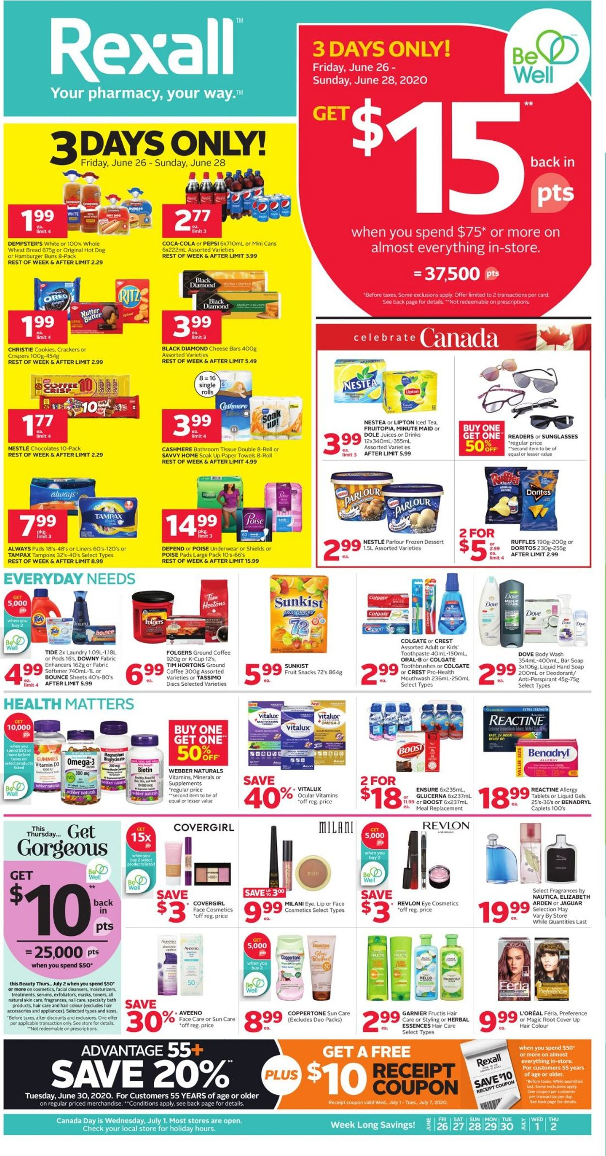 Rexall Flyer - 06/26-07/02/2020