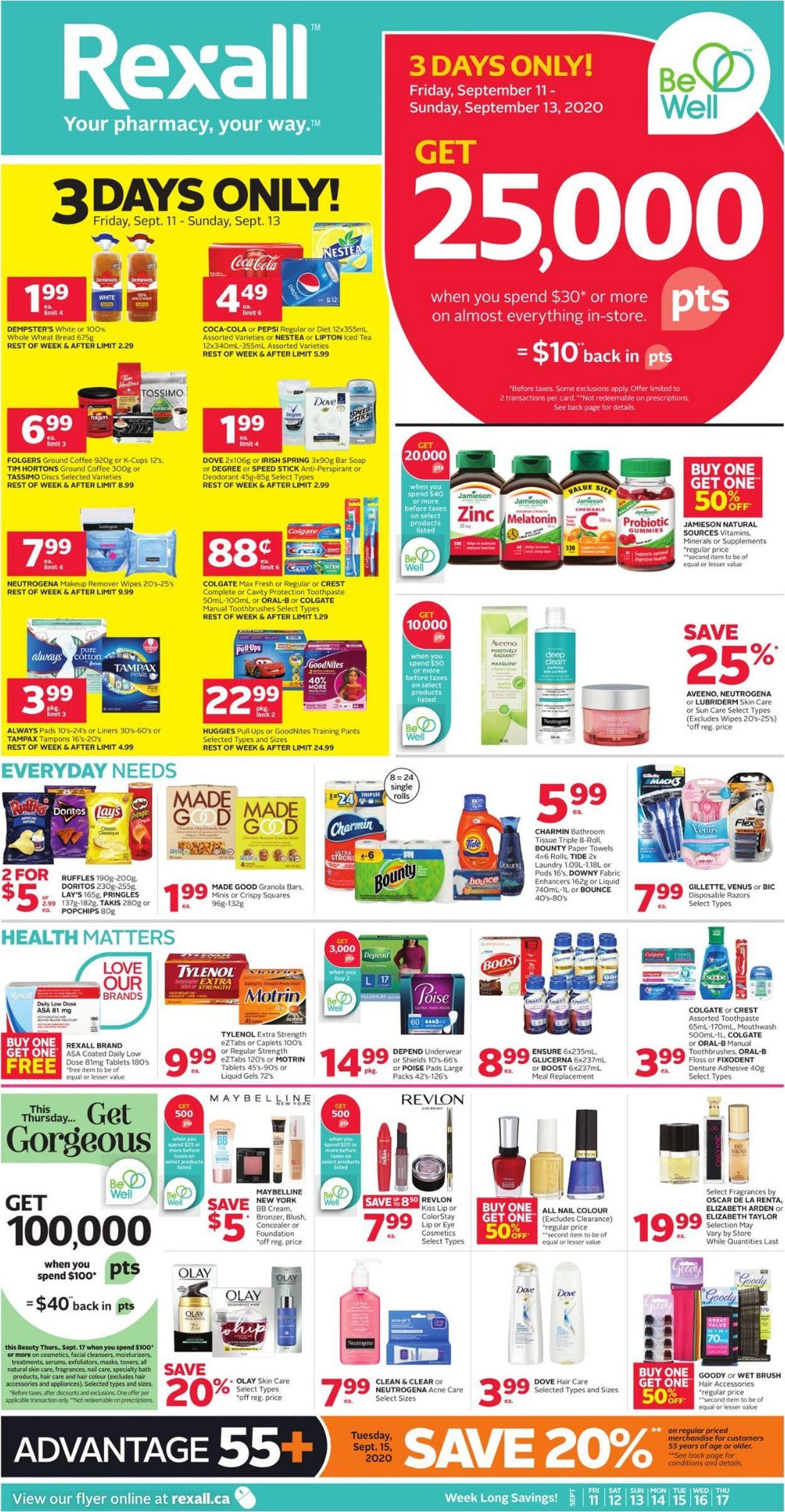 Rexall Flyer - 09/11-09/17/2020