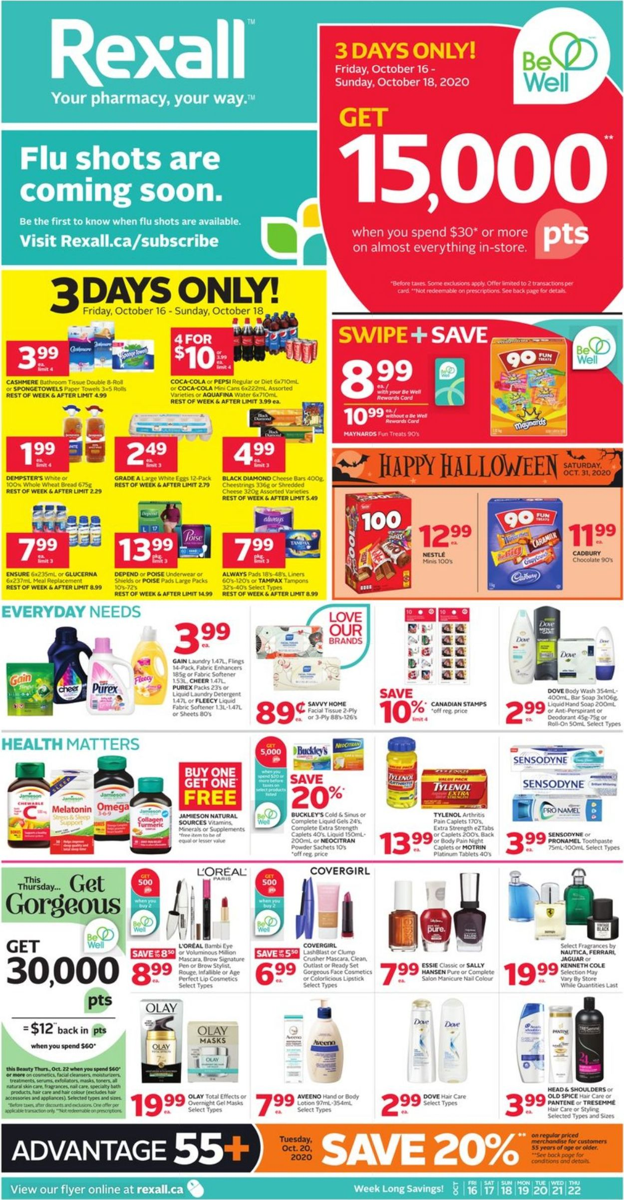 Rexall Flyer - 10/16-10/22/2020
