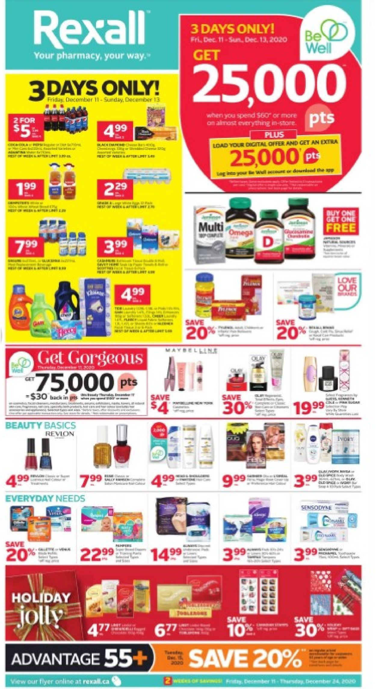 Rexall - Holiday 2020 Flyer - 12/11-12/24/2020