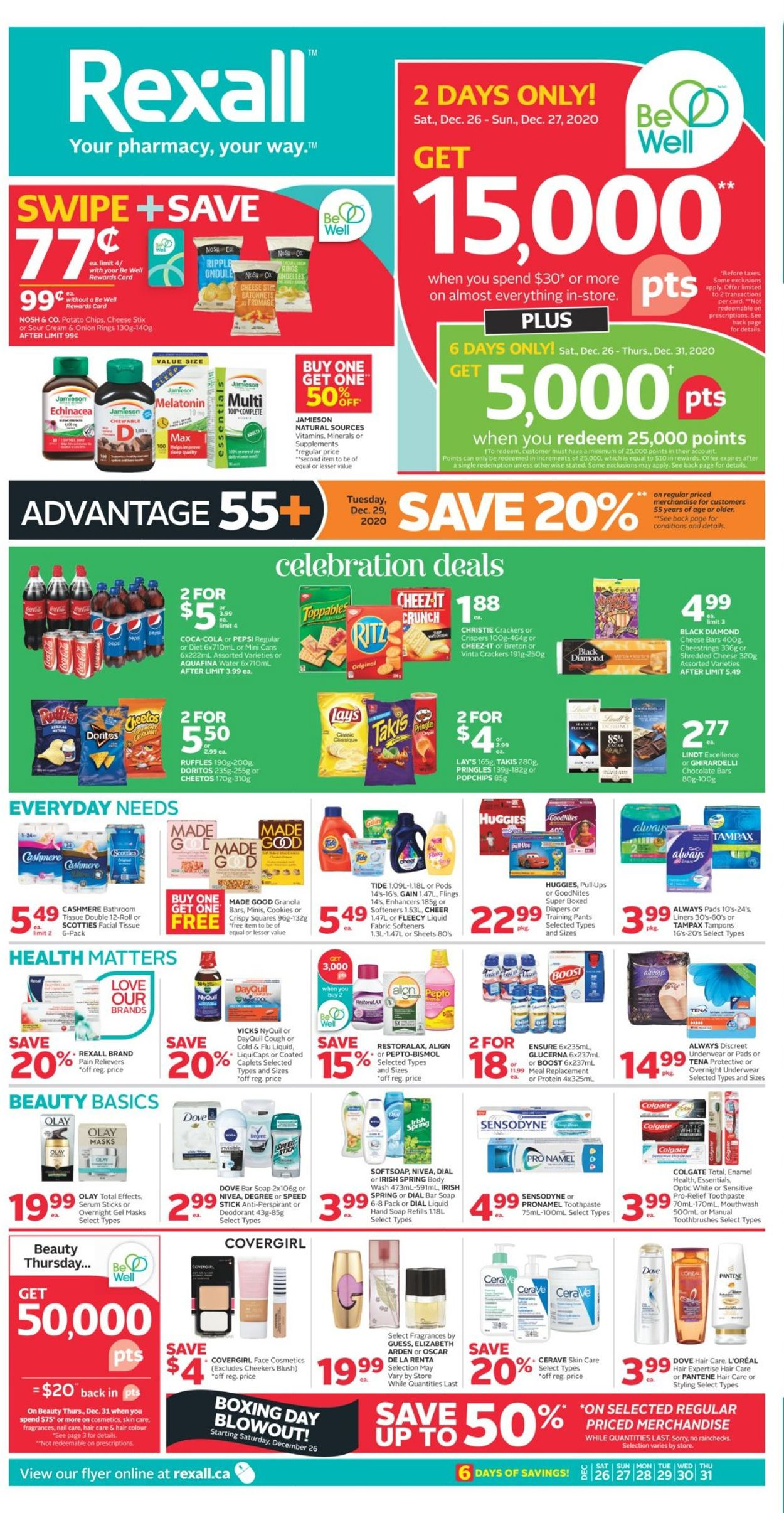 Rexall - Holiday 2020 Flyer - 12/26-12/31/2020