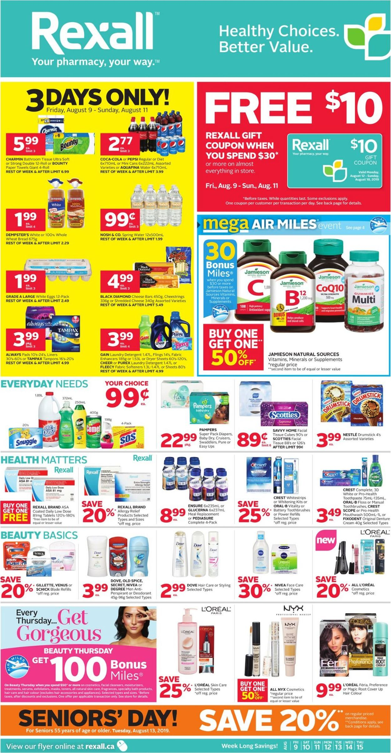 Rexall Flyer - 08/09-08/15/2019