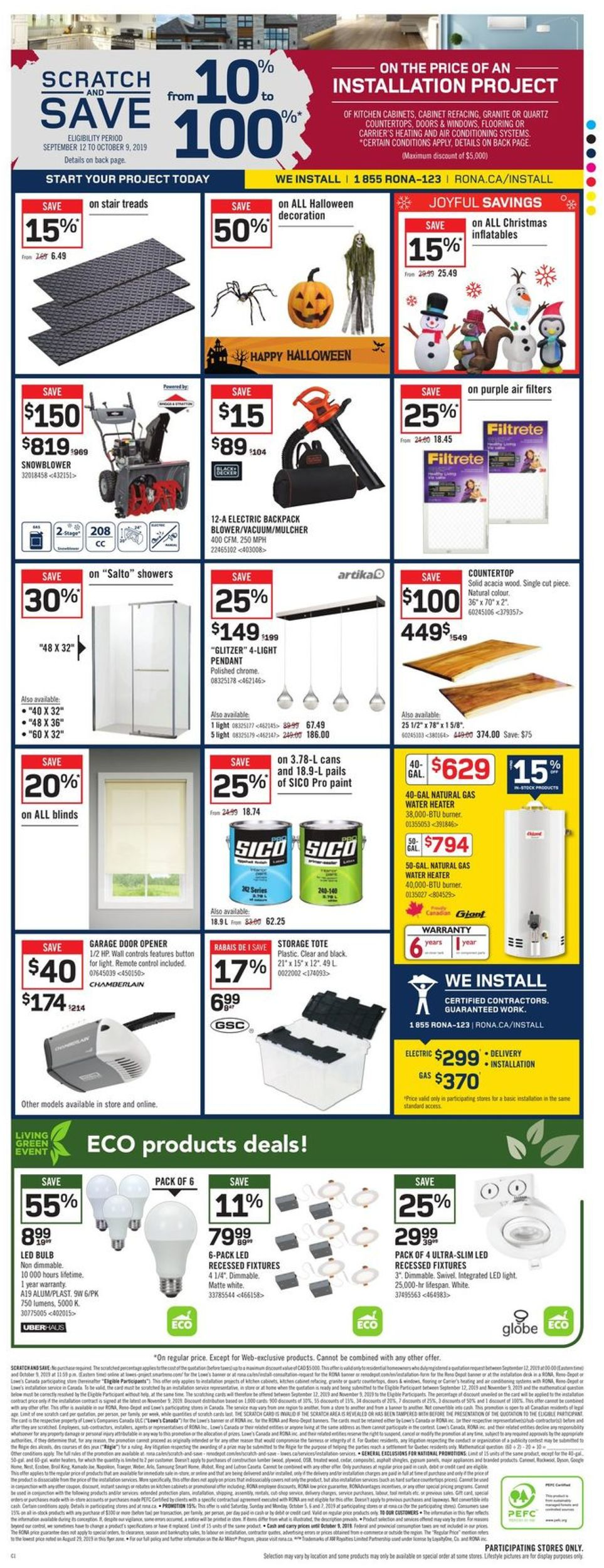 RONA Flyer - 10/03-10/09/2019 (Page 8)