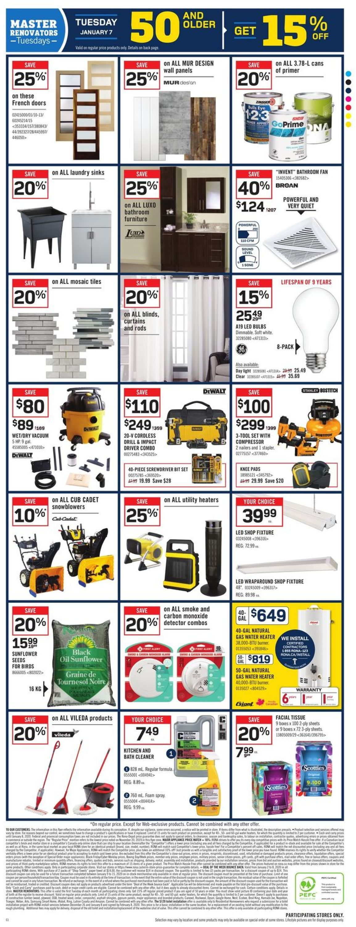 RONA Flyer - 01/02-01/08/2020 (Page 7)