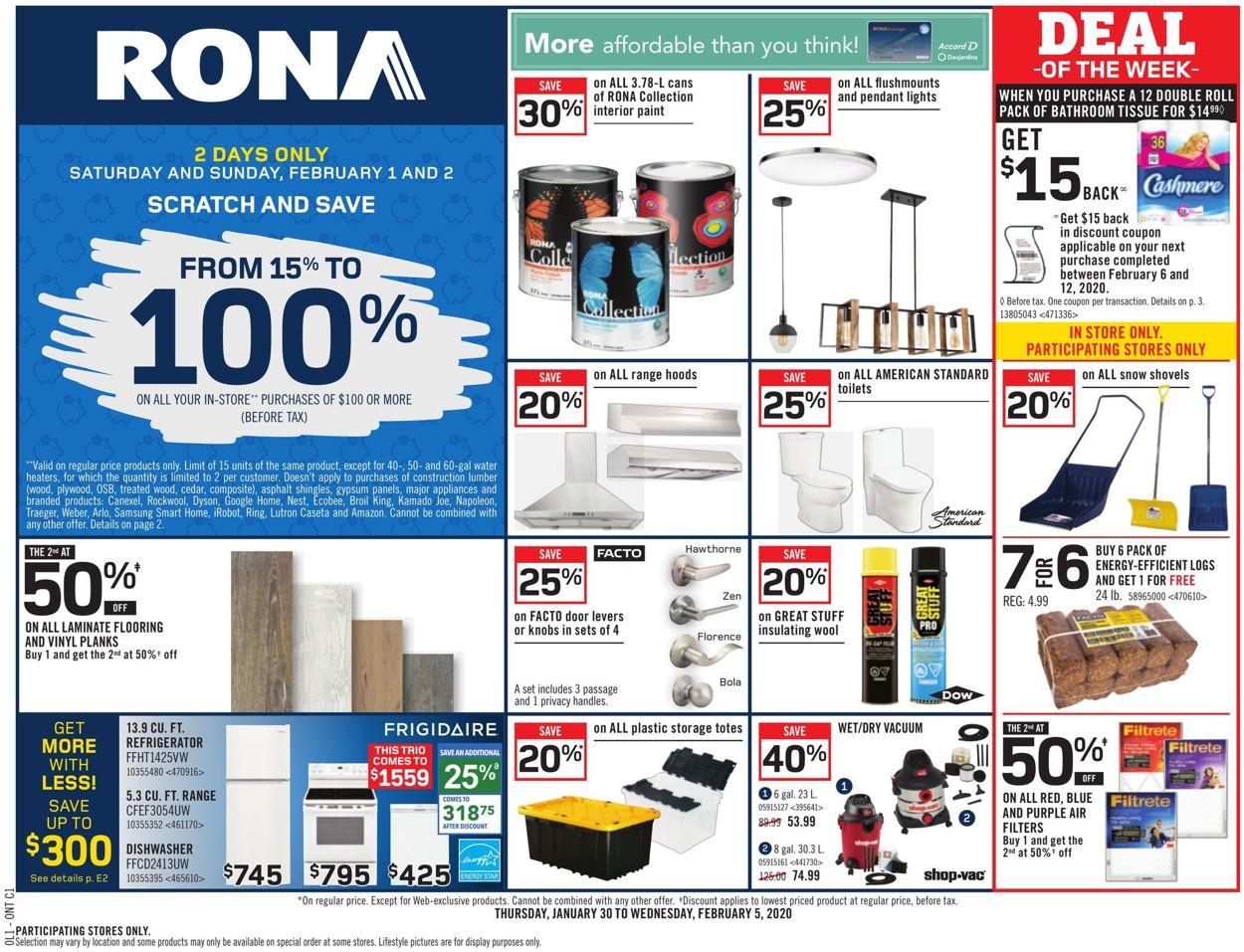 RONA Flyer - 01/30-02/05/2020