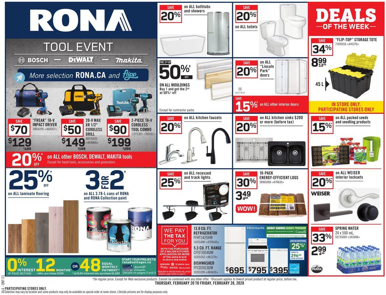 RONA Flyer - 02/20-02/26/2020