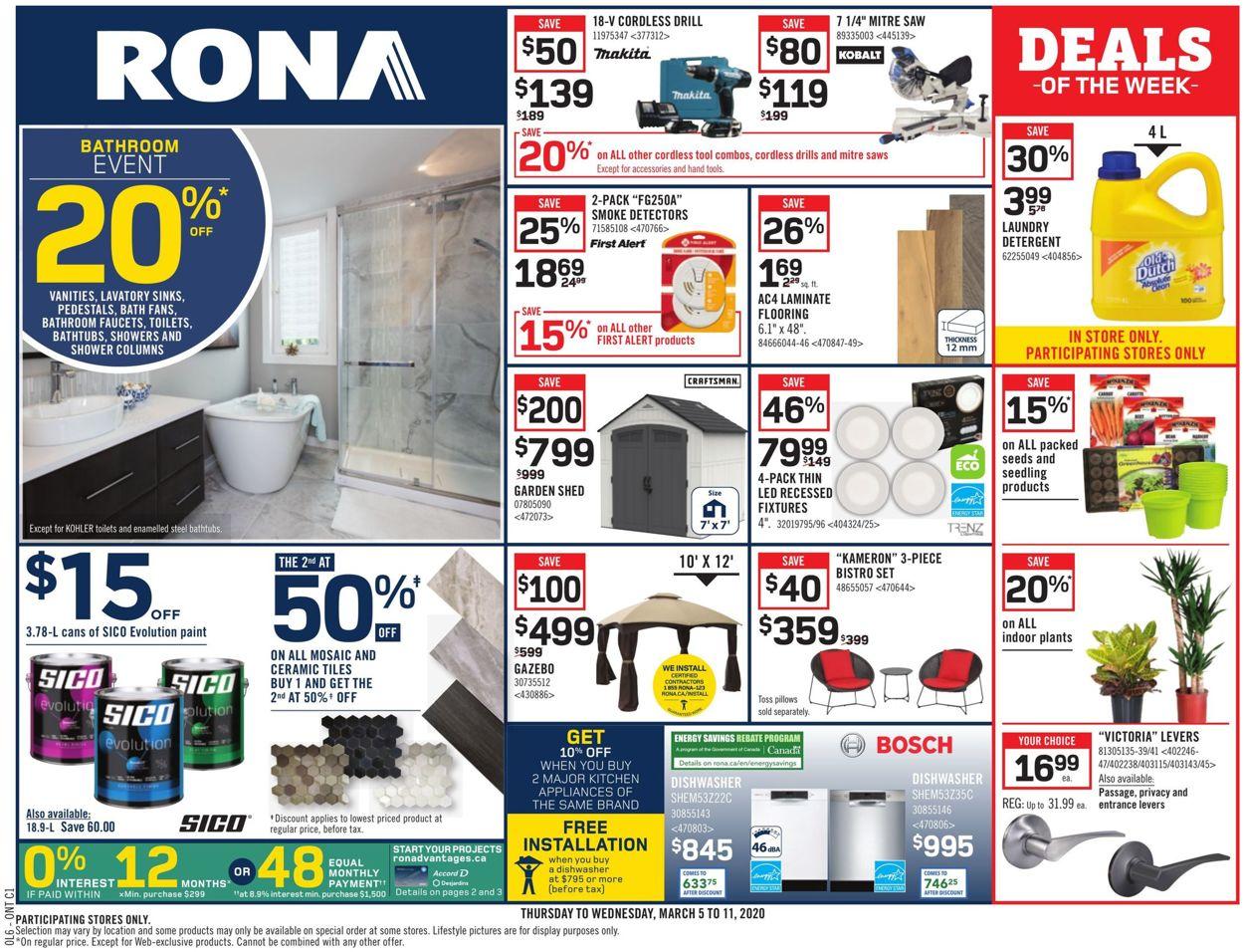 RONA Flyer - 03/05-03/11/2020