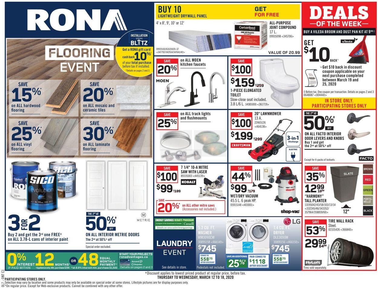RONA Flyer - 03/12-03/18/2020