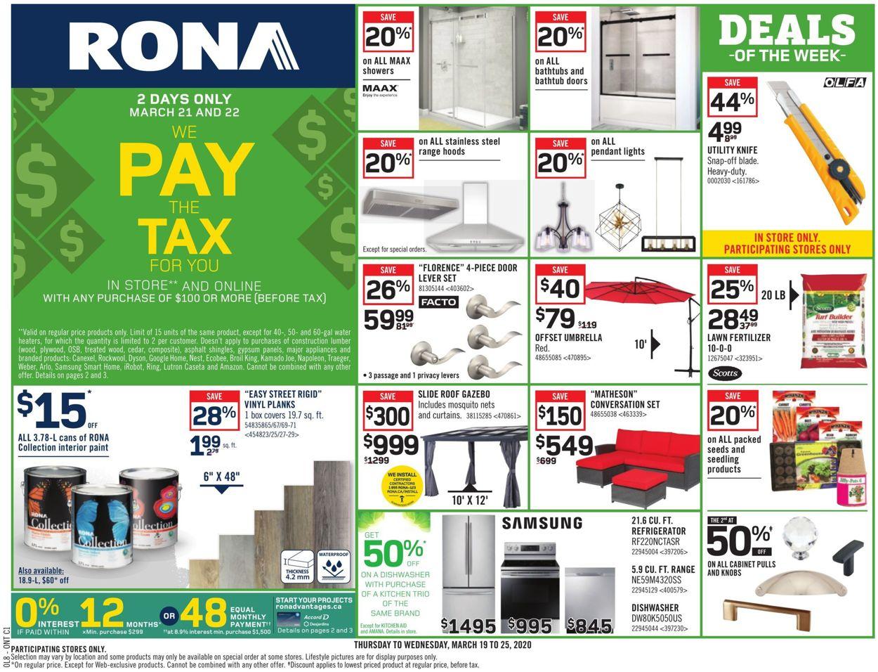 RONA Flyer - 03/19-03/25/2020