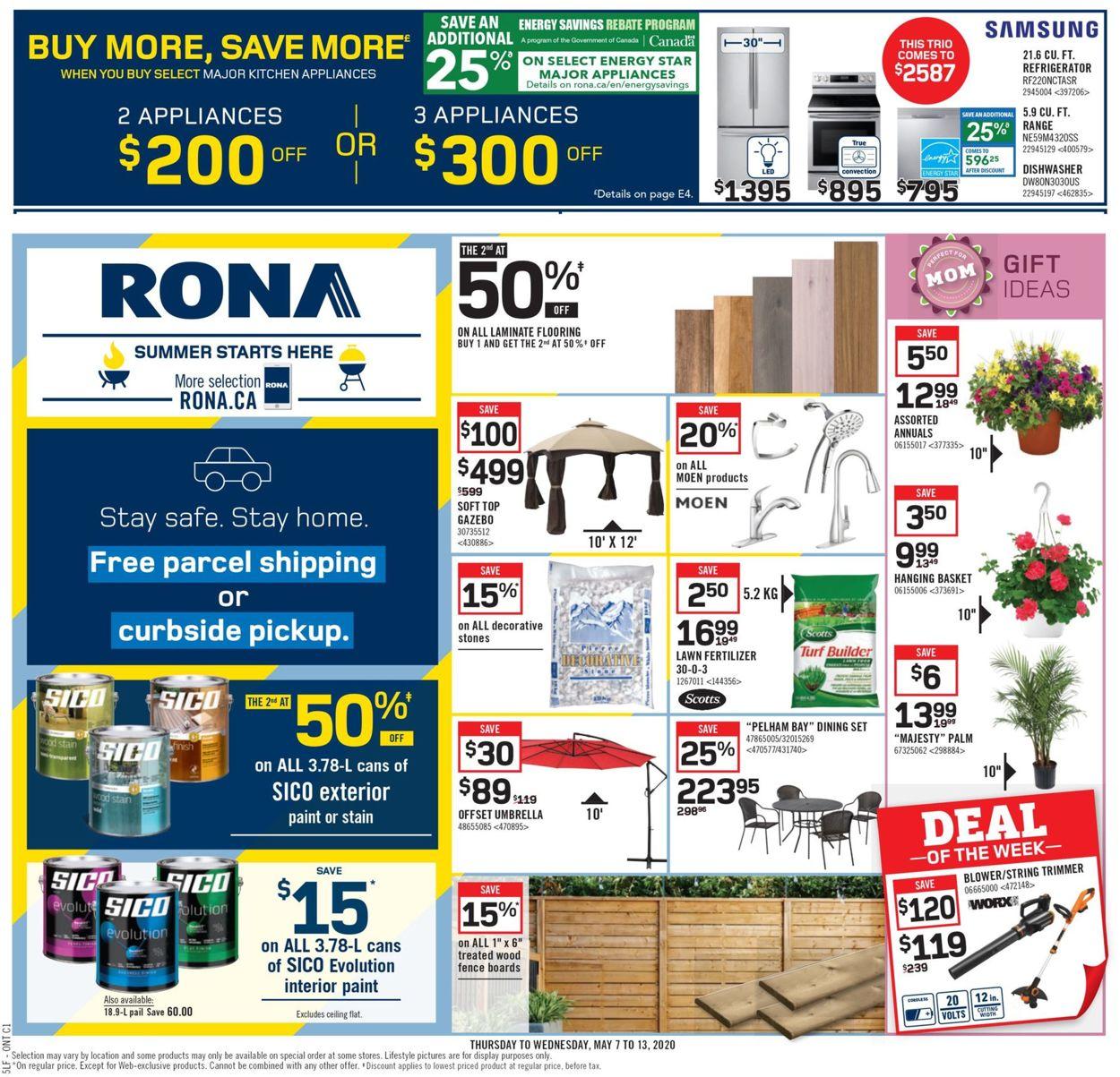 RONA Flyer - 05/07-05/13/2020