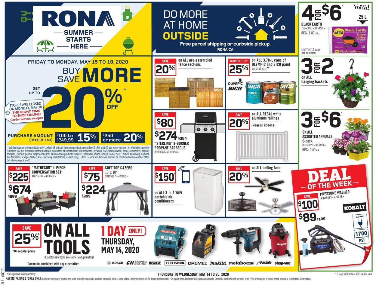 RONA Flyer - 05/14-05/20/2020
