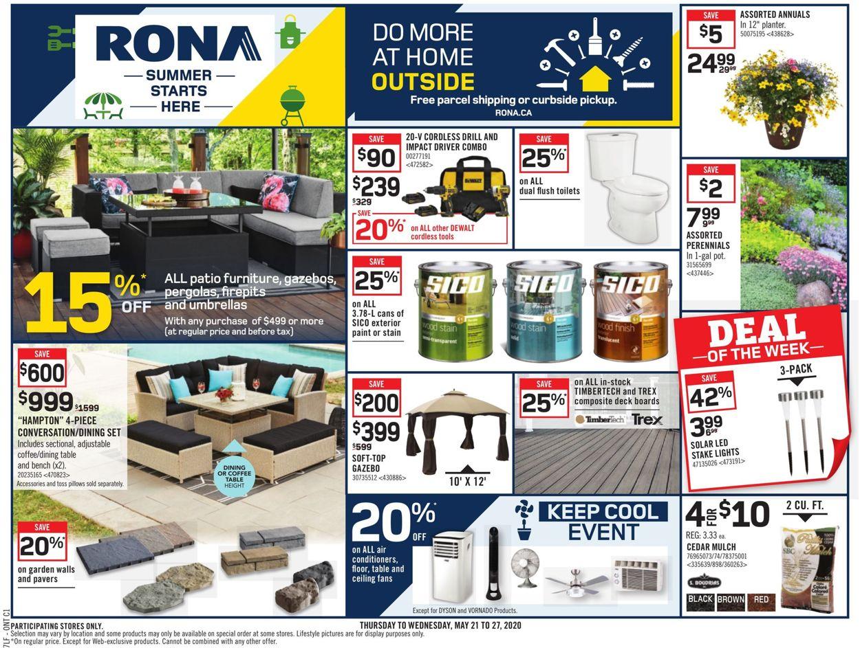 RONA Flyer - 05/21-05/27/2020