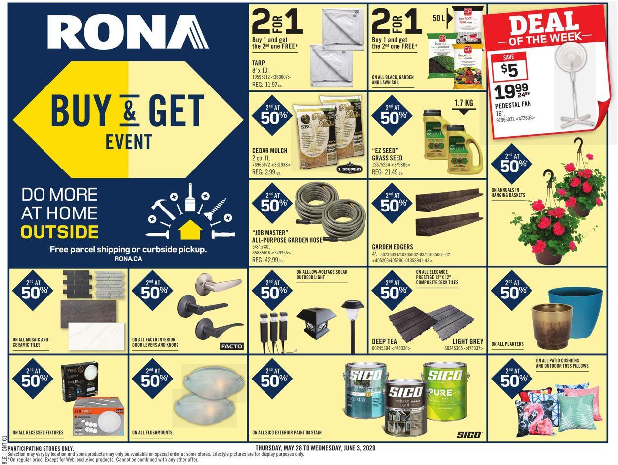 RONA Flyer - 05/28-06/03/2020