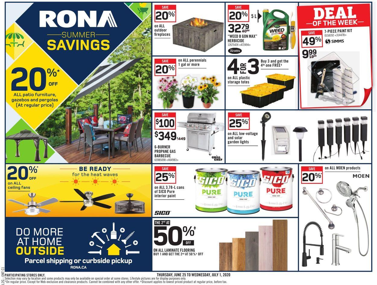 RONA Flyer - 06/25-07/01/2020