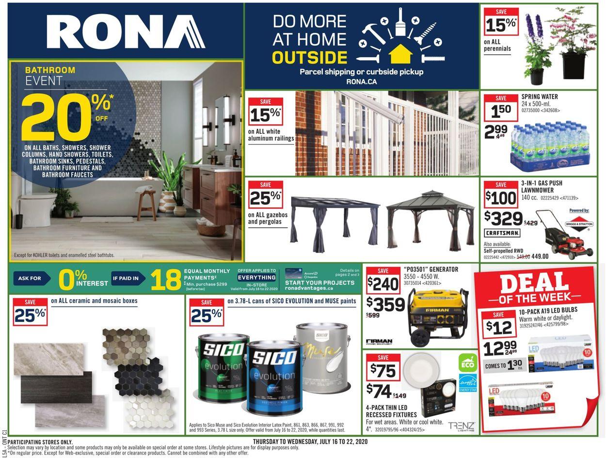 RONA Flyer - 07/16-07/22/2020