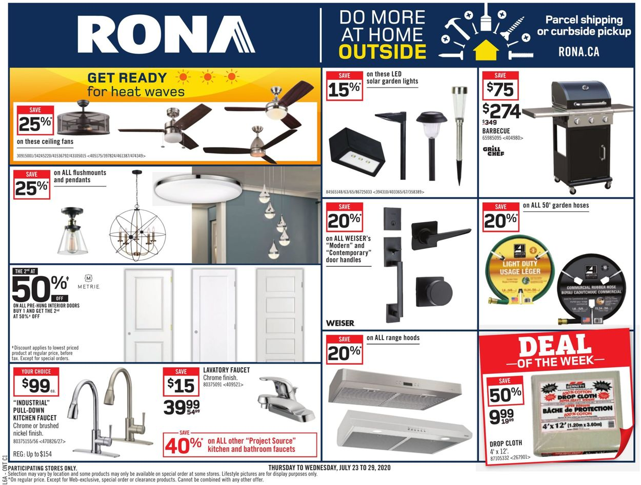 RONA Flyer - 07/23-07/29/2020