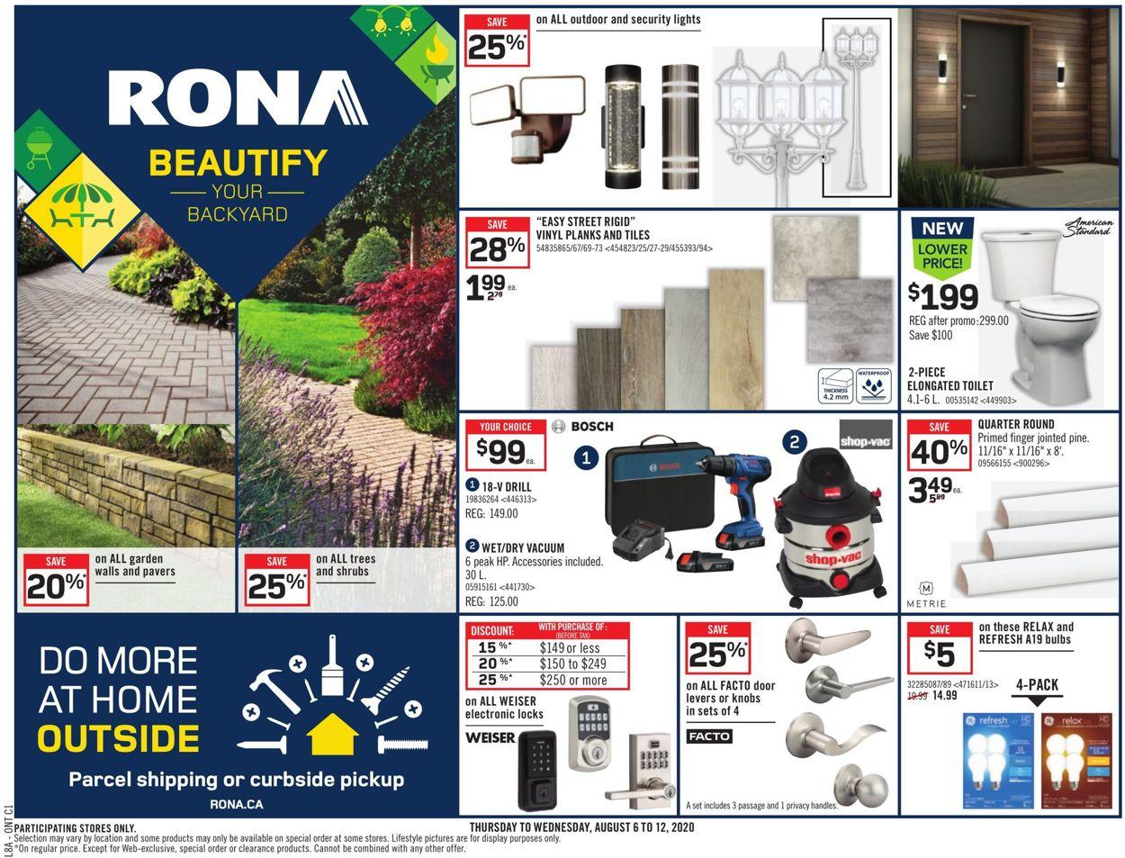 RONA Flyer - 08/06-08/12/2020