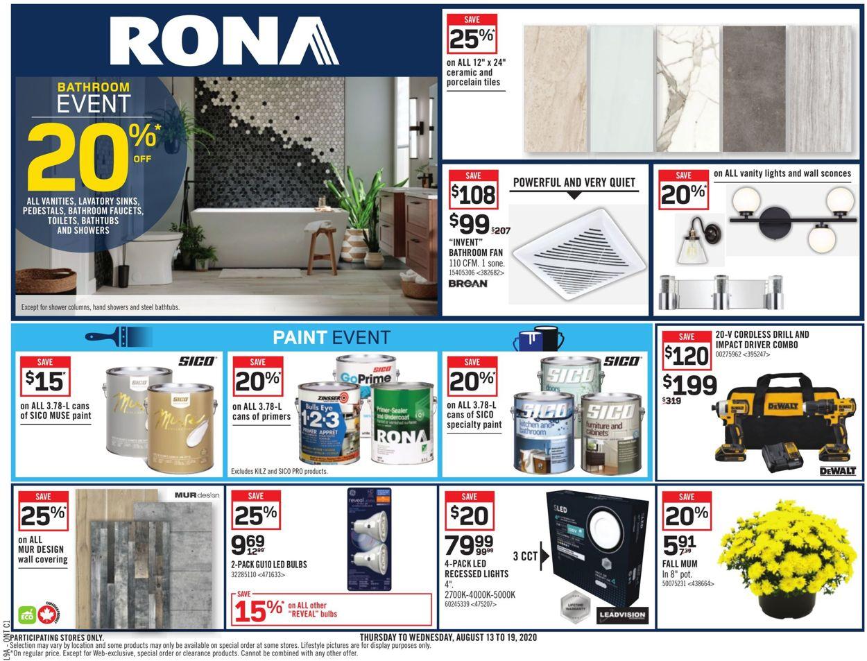 RONA Flyer - 08/13-08/19/2020