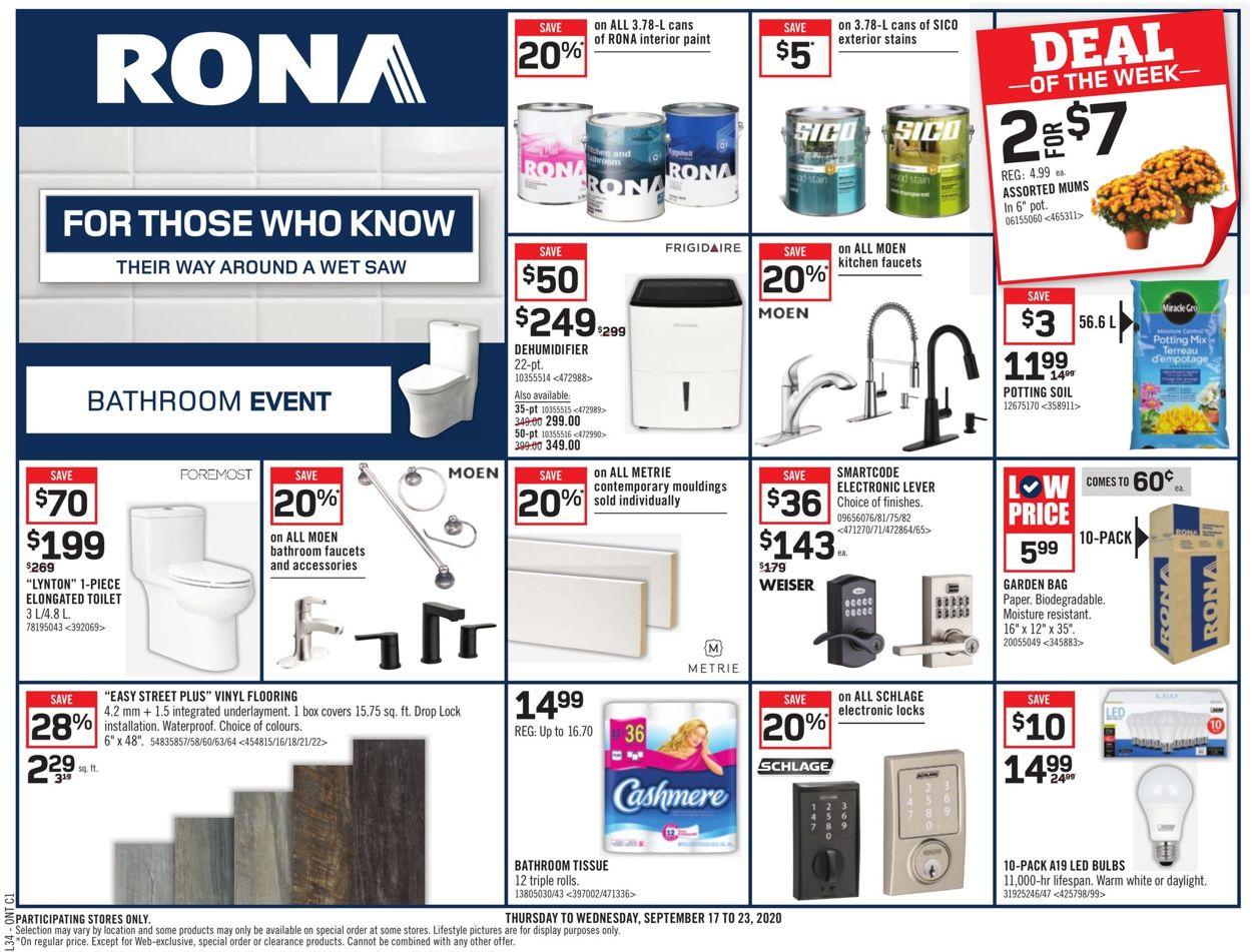 RONA Flyer - 09/17-09/23/2020