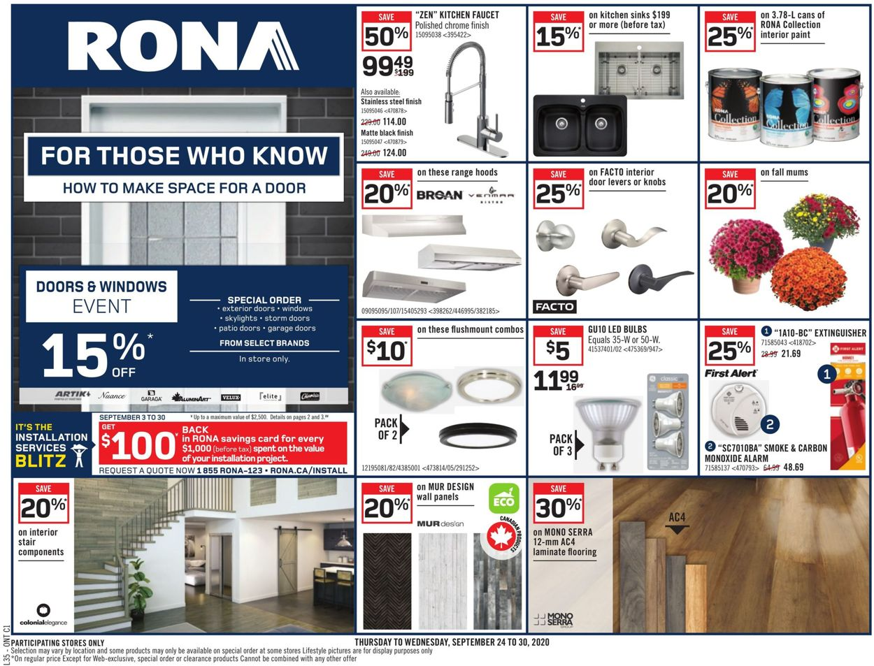 RONA Flyer - 09/24-09/30/2020