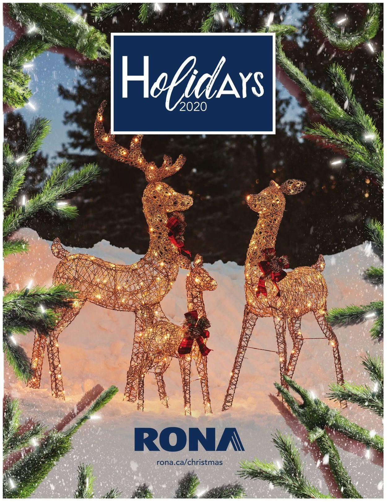 RONA - Holidays 2020 Flyer - 10/08-12/25/2020
