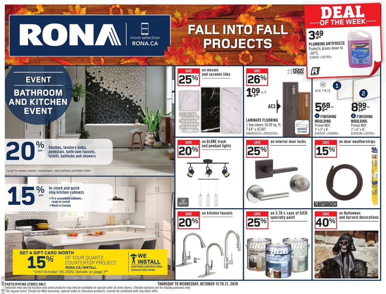 RONA Flyer - 10/15-10/21/2020