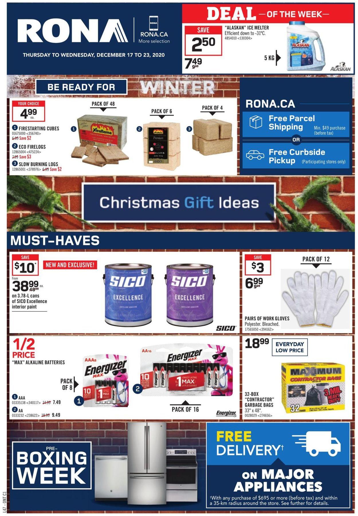RONA - Holiday 2020 Flyer - 12/17-12/23/2020