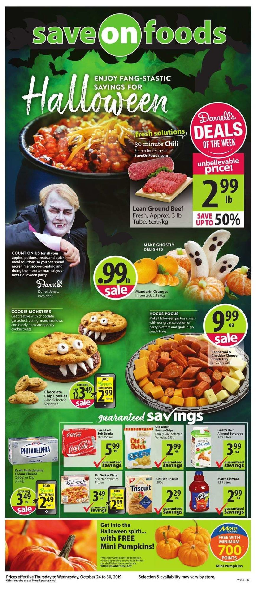 Save-On-Foods Flyer - 10/24-10/30/2019