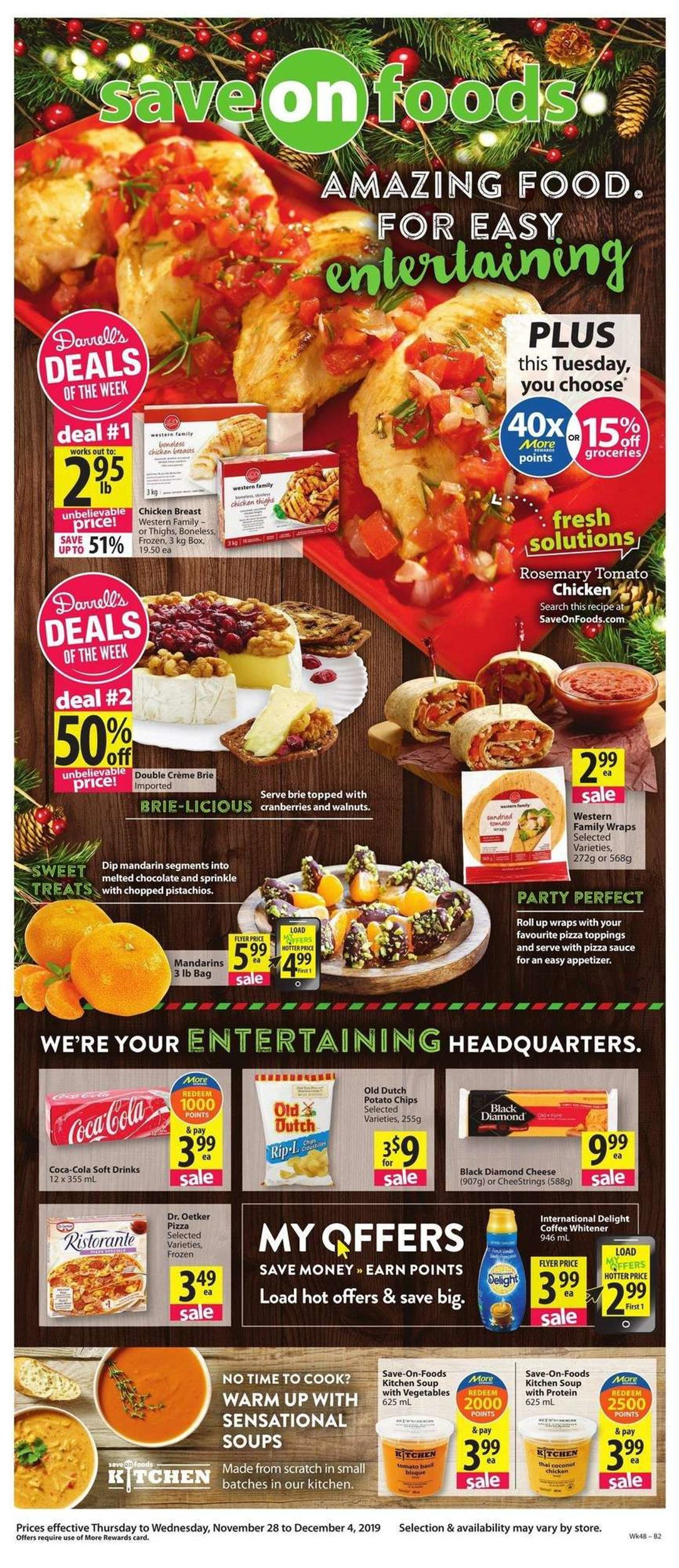 Save-On-Foods - HOLIDAY 2019 FLYER