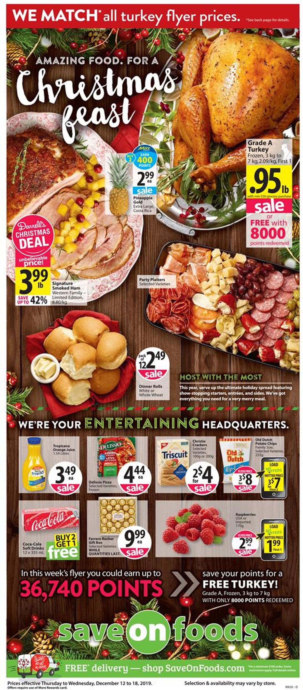 Save-On-Foods - CHRISTMAS 2019 FLYER Flyer - 12/12-12/18/2019