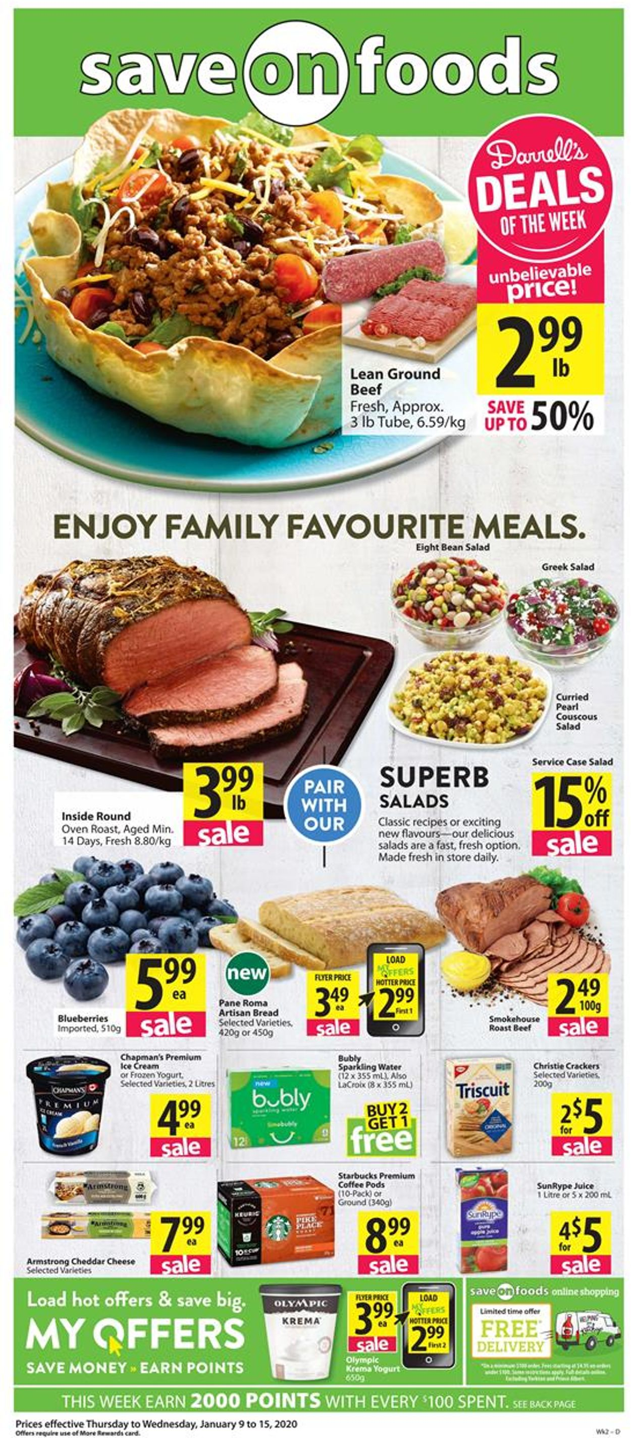Save-On-Foods Flyer - 01/09-01/15/2020