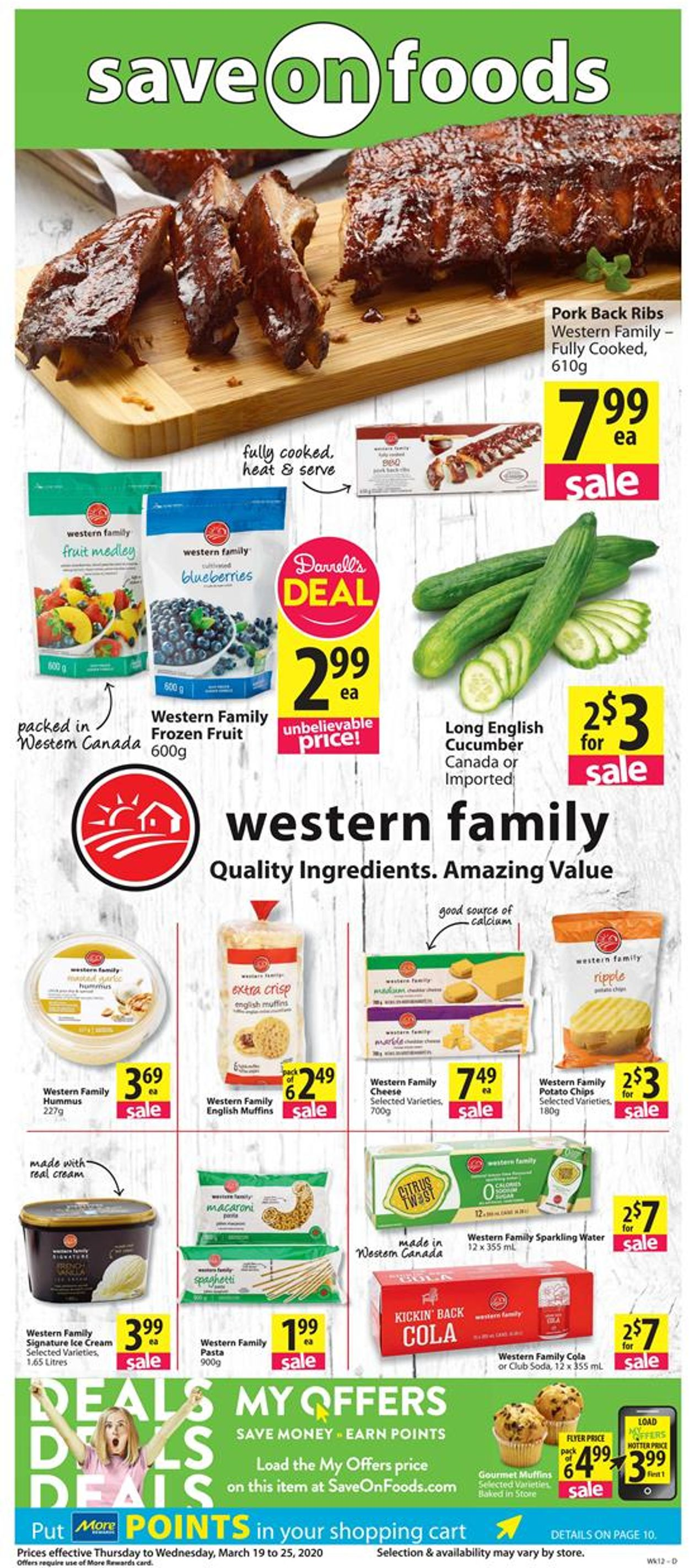 Save-On-Foods Flyer - 03/19-03/25/2020