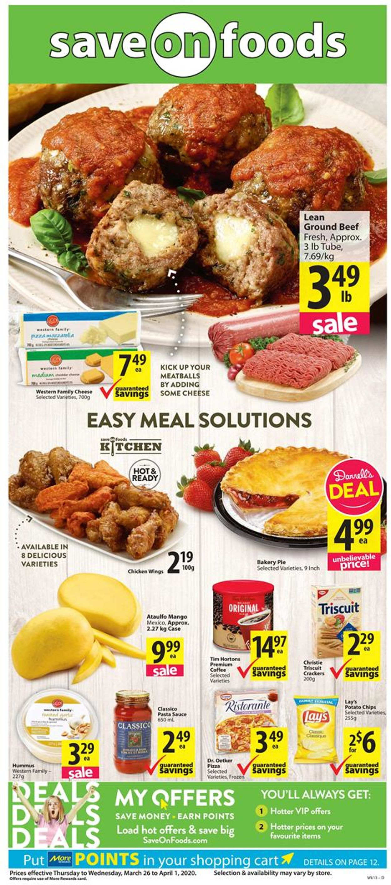 Save-On-Foods Flyer - 03/26-04/01/2020
