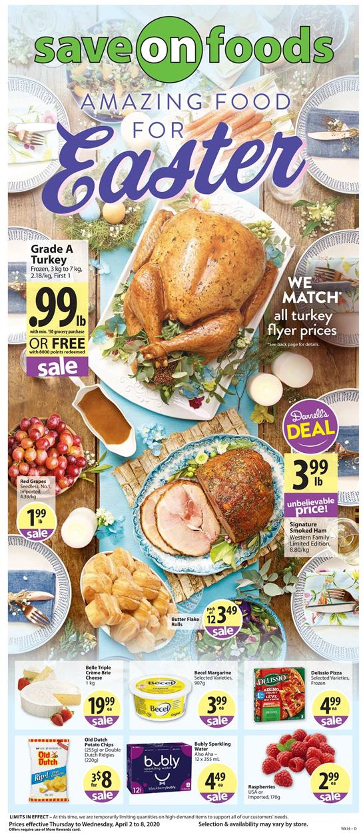 Save-On-Foods Flyer - 04/02-04/08/2020