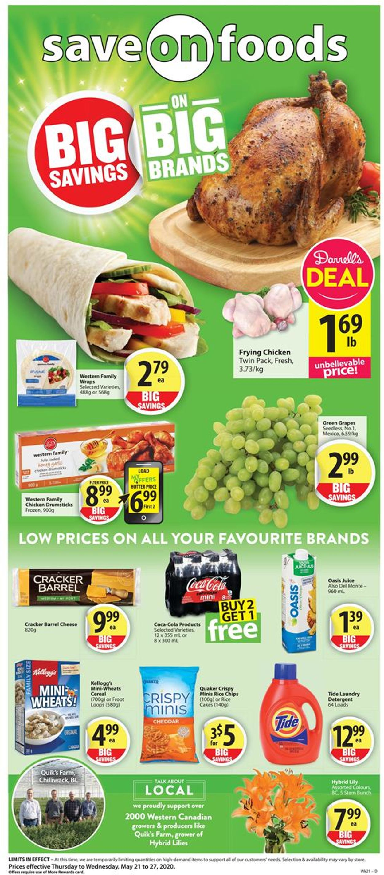 Save-On-Foods Flyer - 05/21-05/27/2020
