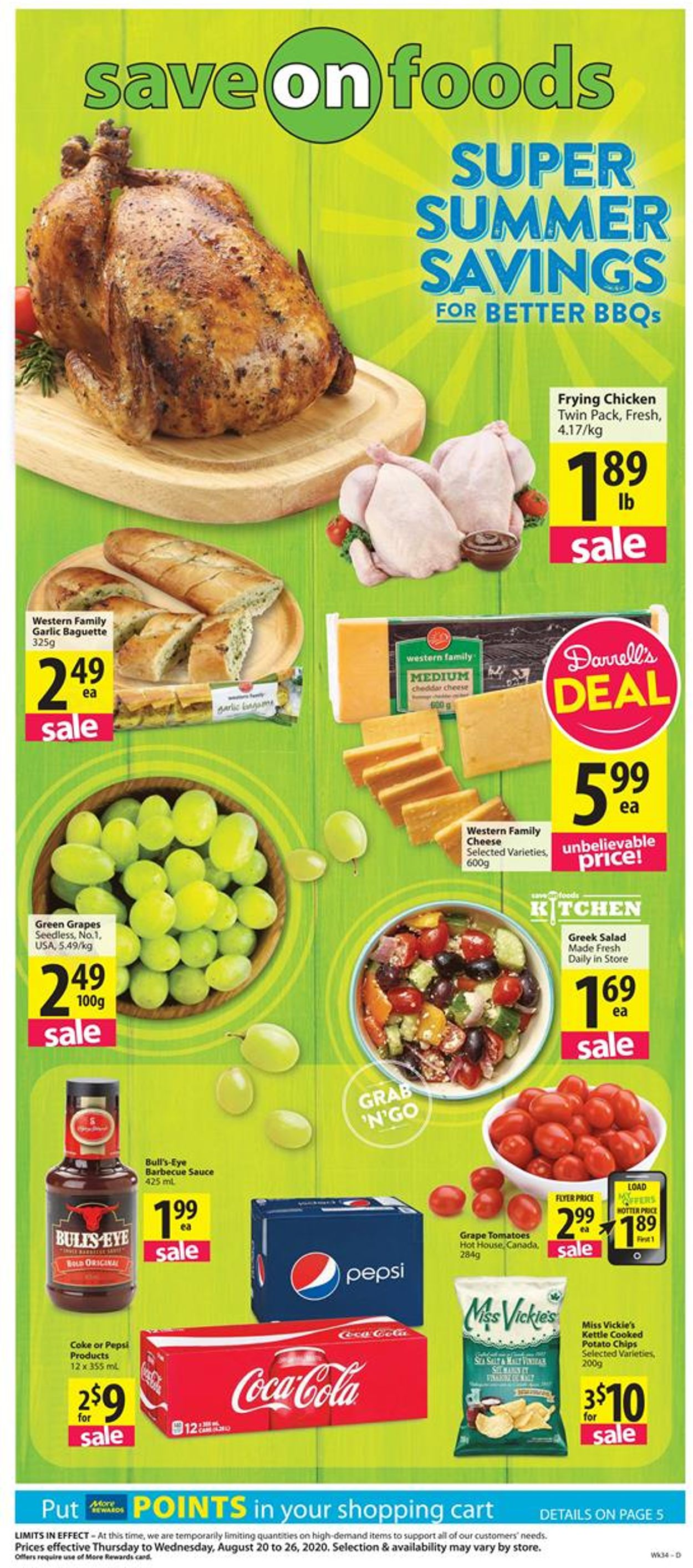 Save-On-Foods Flyer - 08/20-08/26/2020