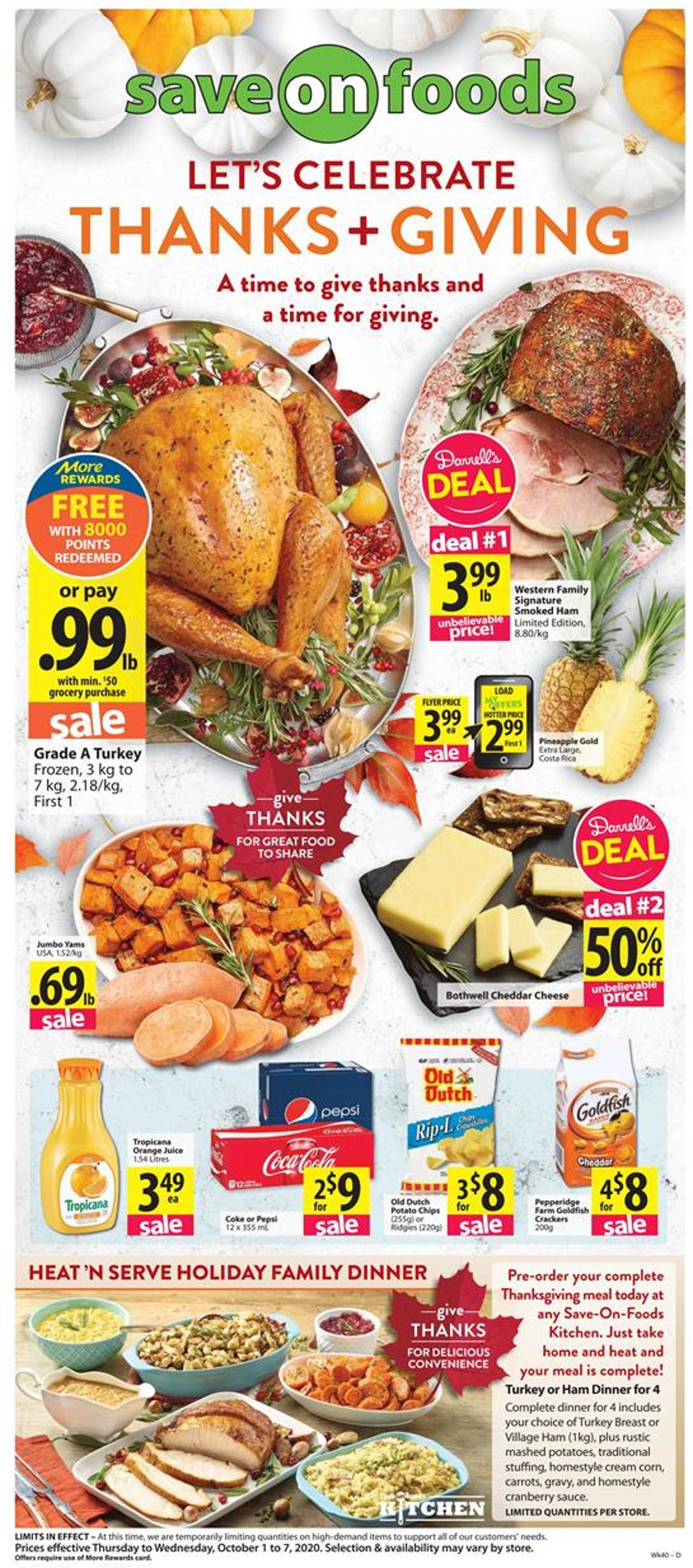 Save-On-Foods Flyer - 10/01-10/07/2020